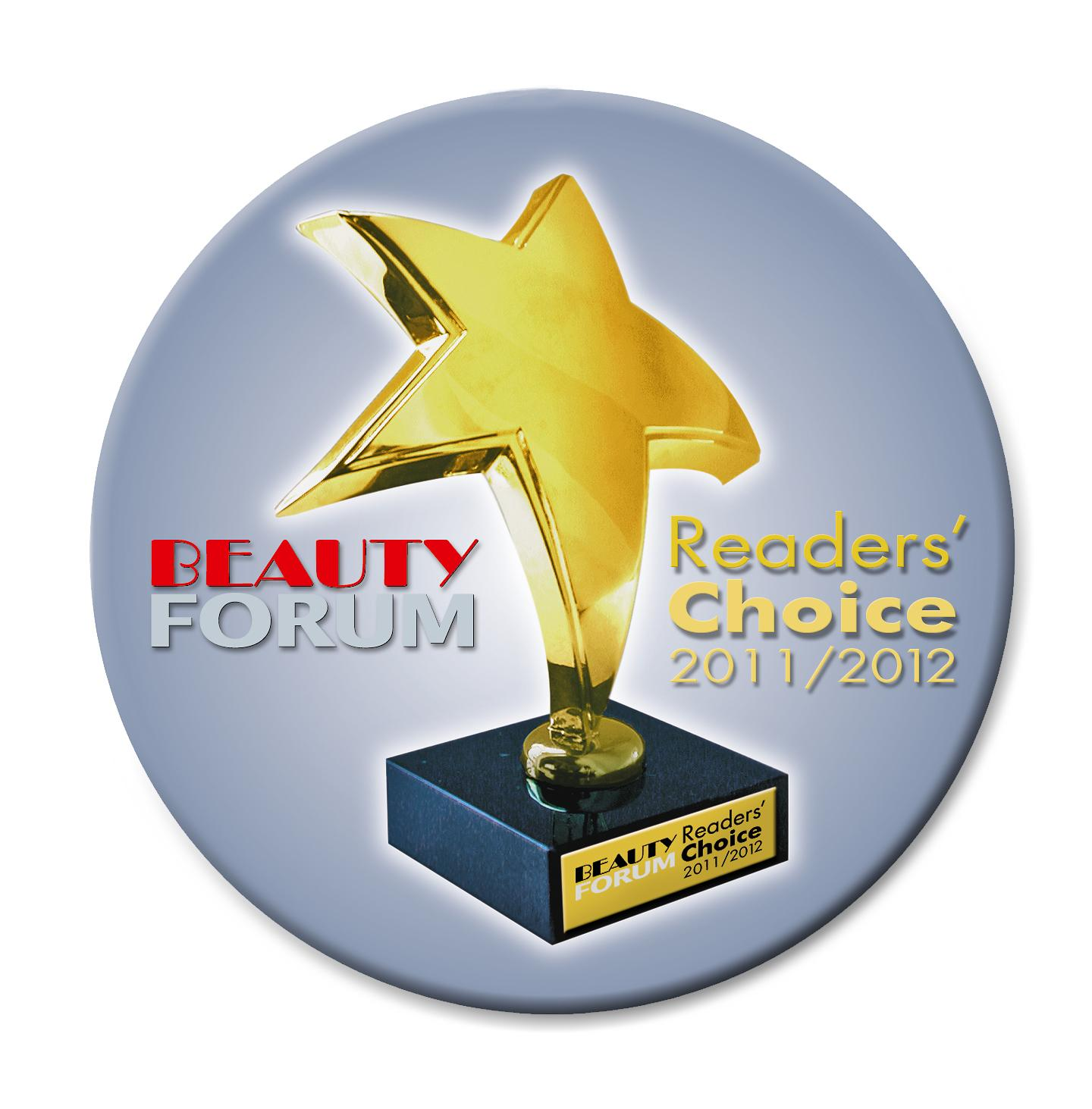 BEAUTY FORUM Reader's Choice Award 2011 2012